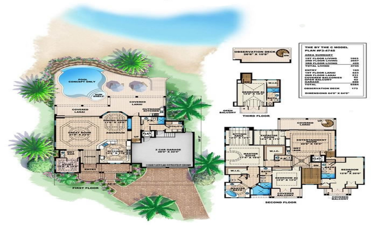 Tropical house plans small cottage tropical island house for Island house plans
