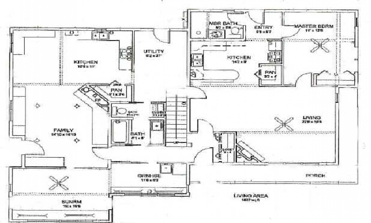 Upstairs Downstairs House Plans Upstairs Downstairs House
