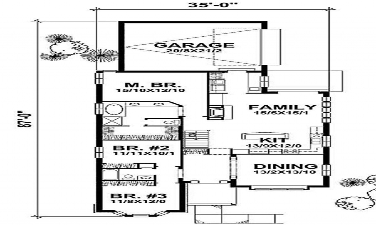 1929 craftsman bungalow floor plans craftsman bungalow for Craftsman cottage floor plans