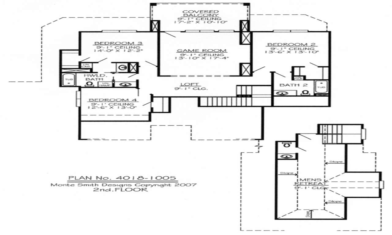 2 bedroom ranch house plans 2 bedroom house plans with for 2 bedroom home plans with loft