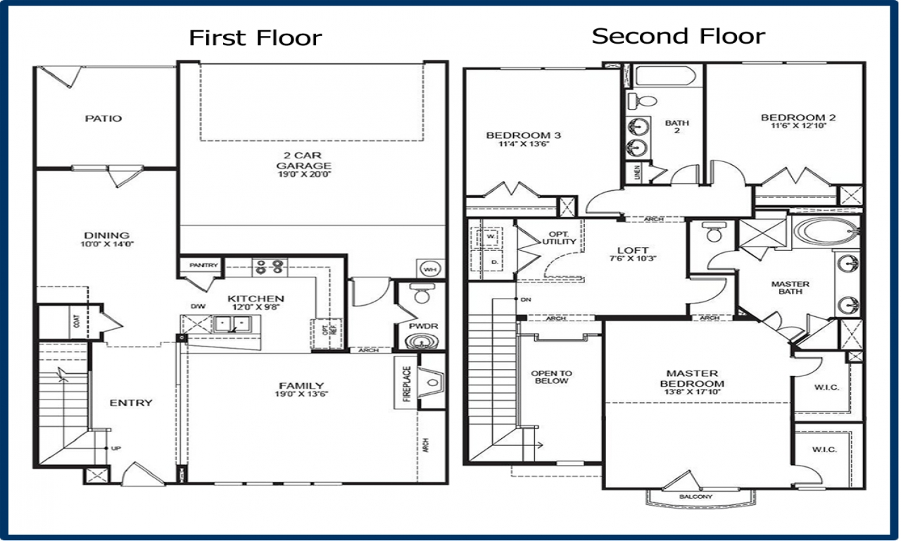 2 story condo floor plans 2 floor condo in georgetown for 24x24 two story house plans