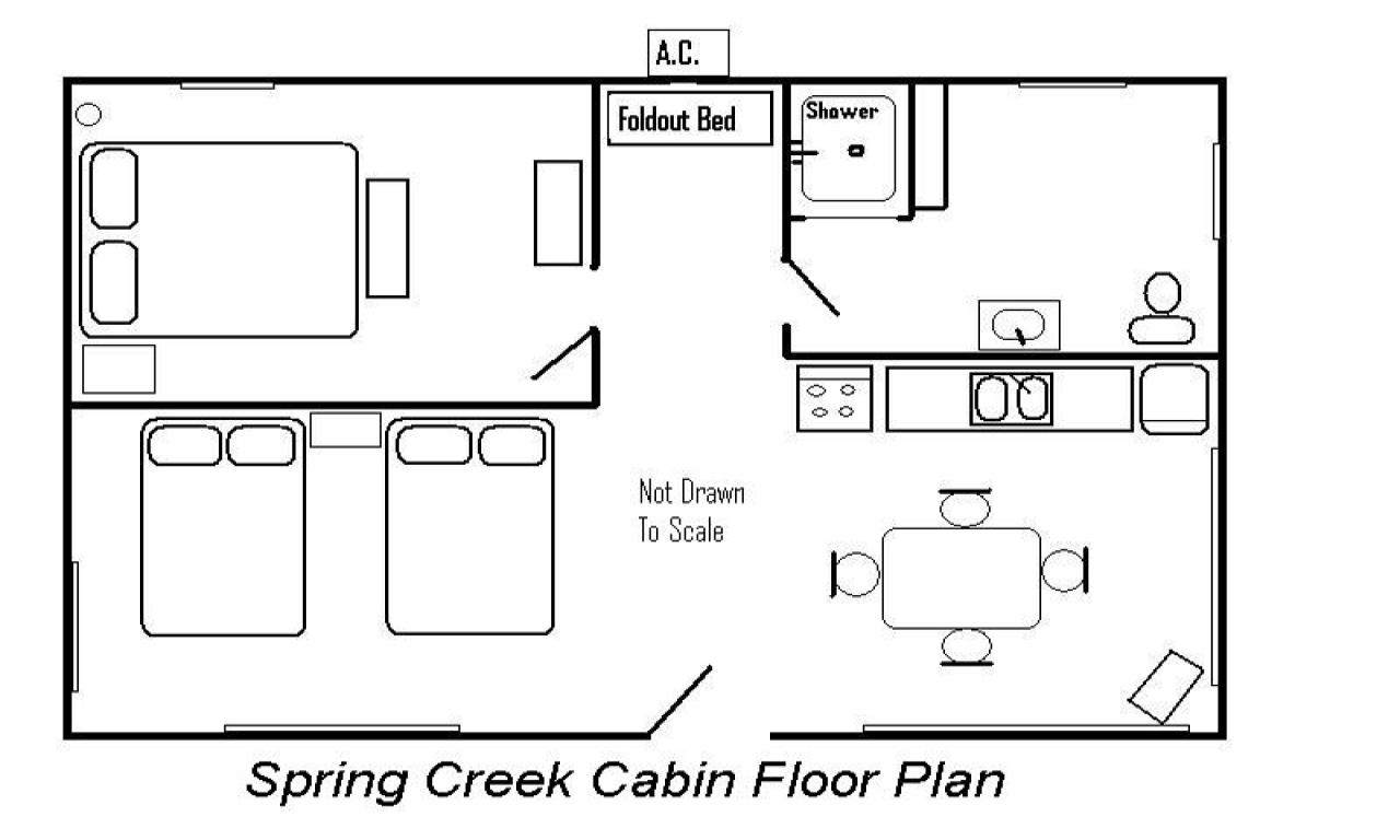 Cabin floor plan cabin floor plans single story cabin for Single story cabin floor plans