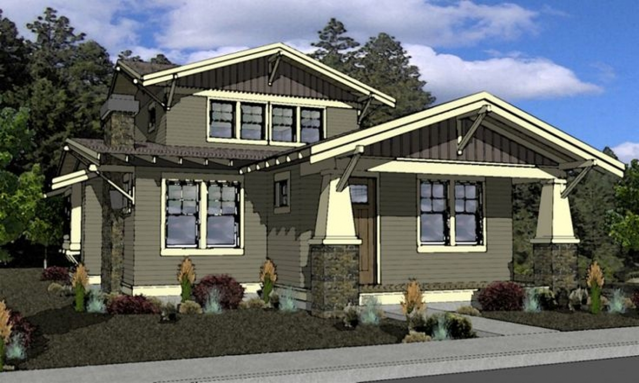 Craftsman bungalow house plans craftsman style house plans for Craftsman style home builders