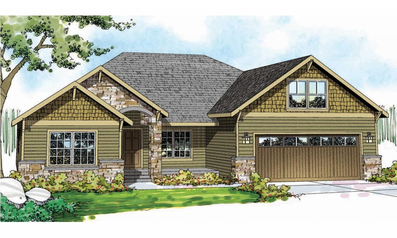 Craftsman house plan best craftsman house plans craftsman for Best ranch house plans 2016