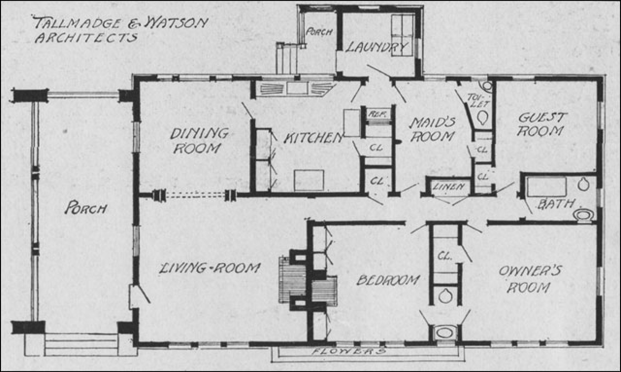 Single Story Bungalow House Plans Rural Single Story