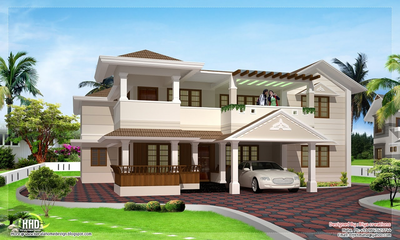 Two floor house exterior design two floor house design 1 for One level house exterior design