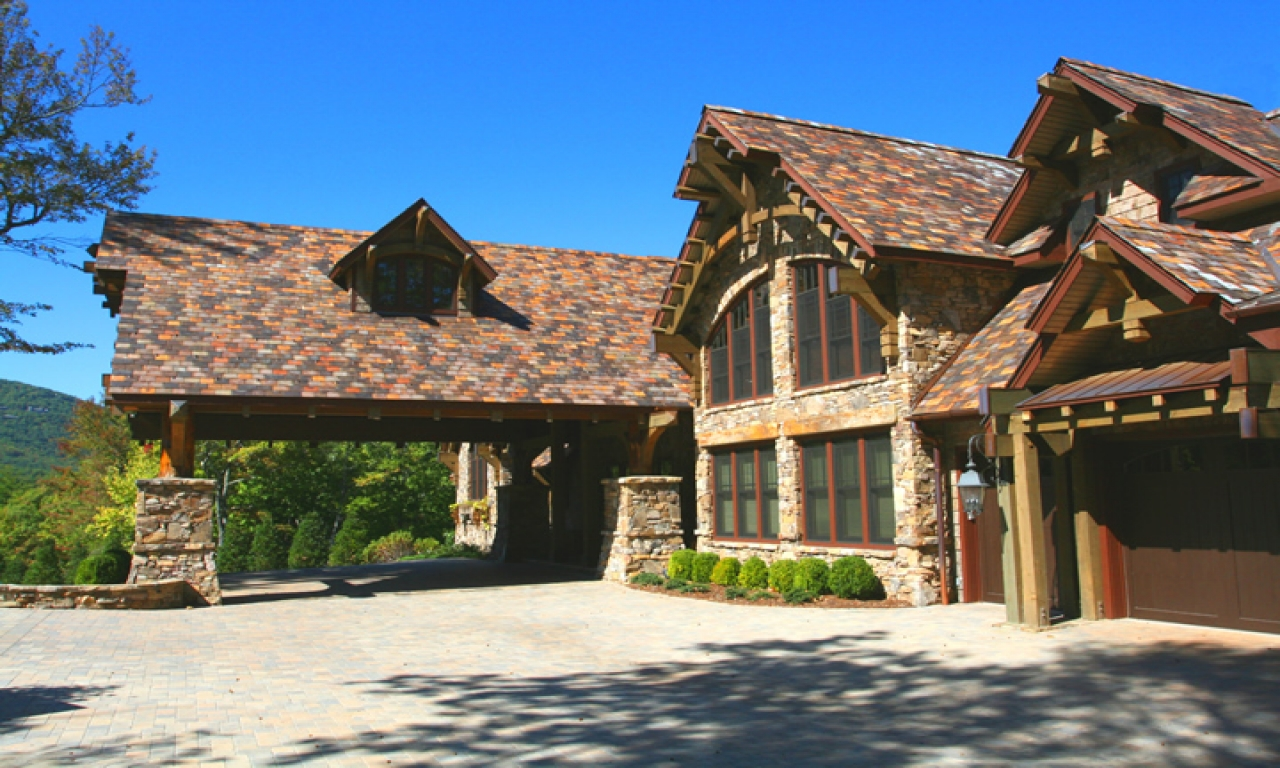 Mountain Home With Porte Cochere Porte Cochere Residential