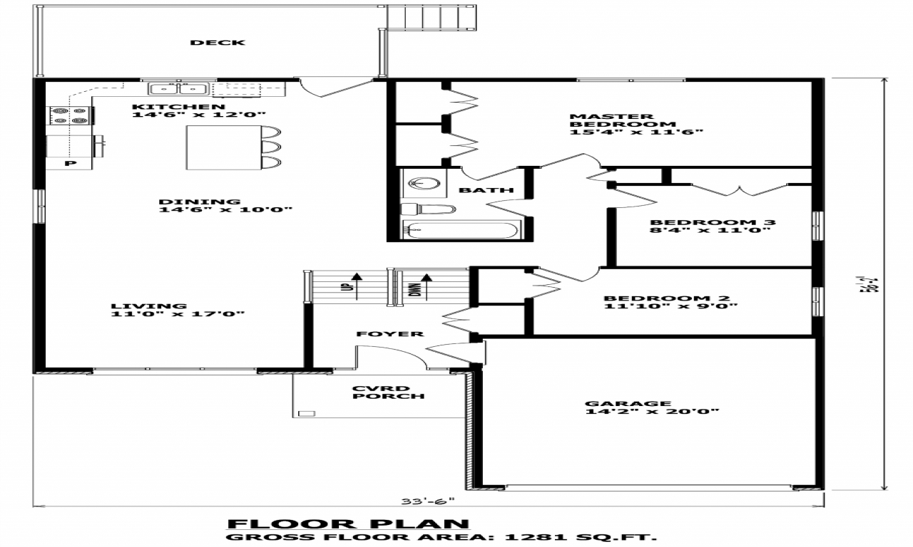 Raised bungalow floor plans craftsman bungalow house plans for Elevated floor plans