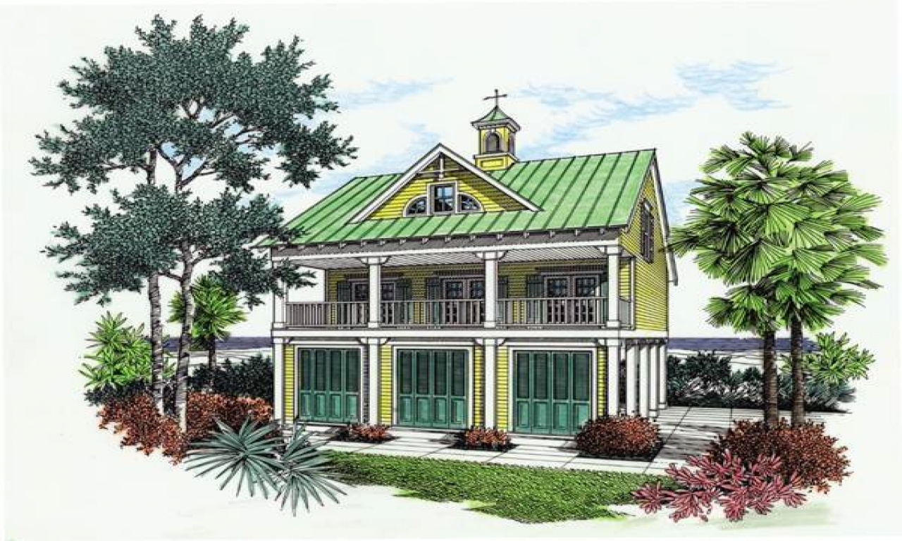 Small florida gulf coast cottages small beach cottage for Beach house plans gulf coast
