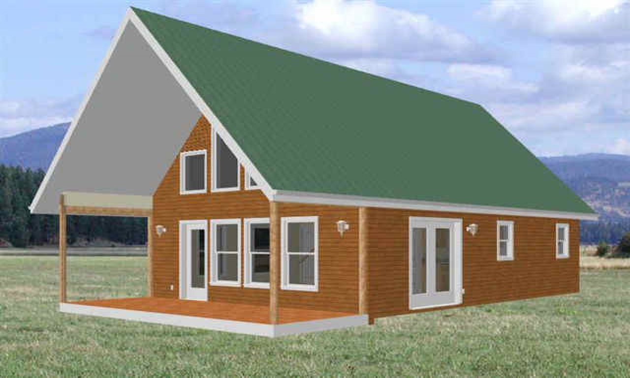 Cabin floor plans cabin with loft plans free cabin floor for Shed roof cabin with loft