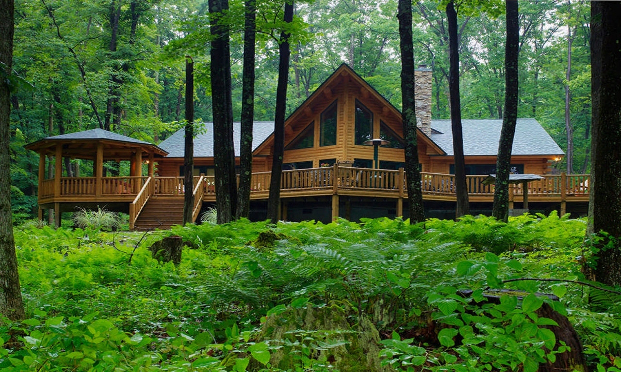 Cedar log homes log cabin floor plans log home floor plans for Luxury cabin floor plans