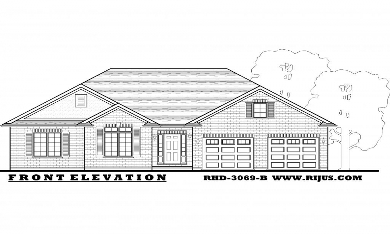 Country bungalow house plans raised bungalow house plans House floor plans ontario