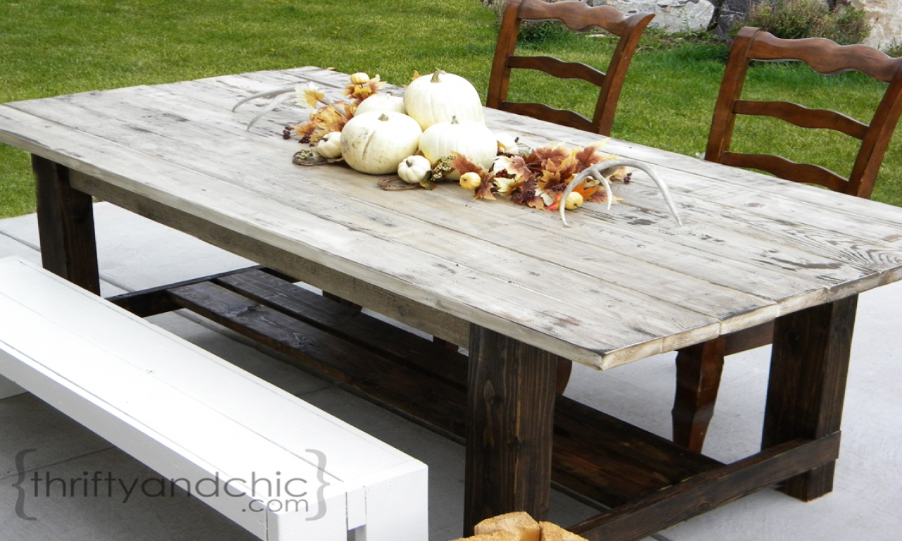 diy farmhouse table outdoor diy rustic farmhouse dining table new house plans that look old. Black Bedroom Furniture Sets. Home Design Ideas