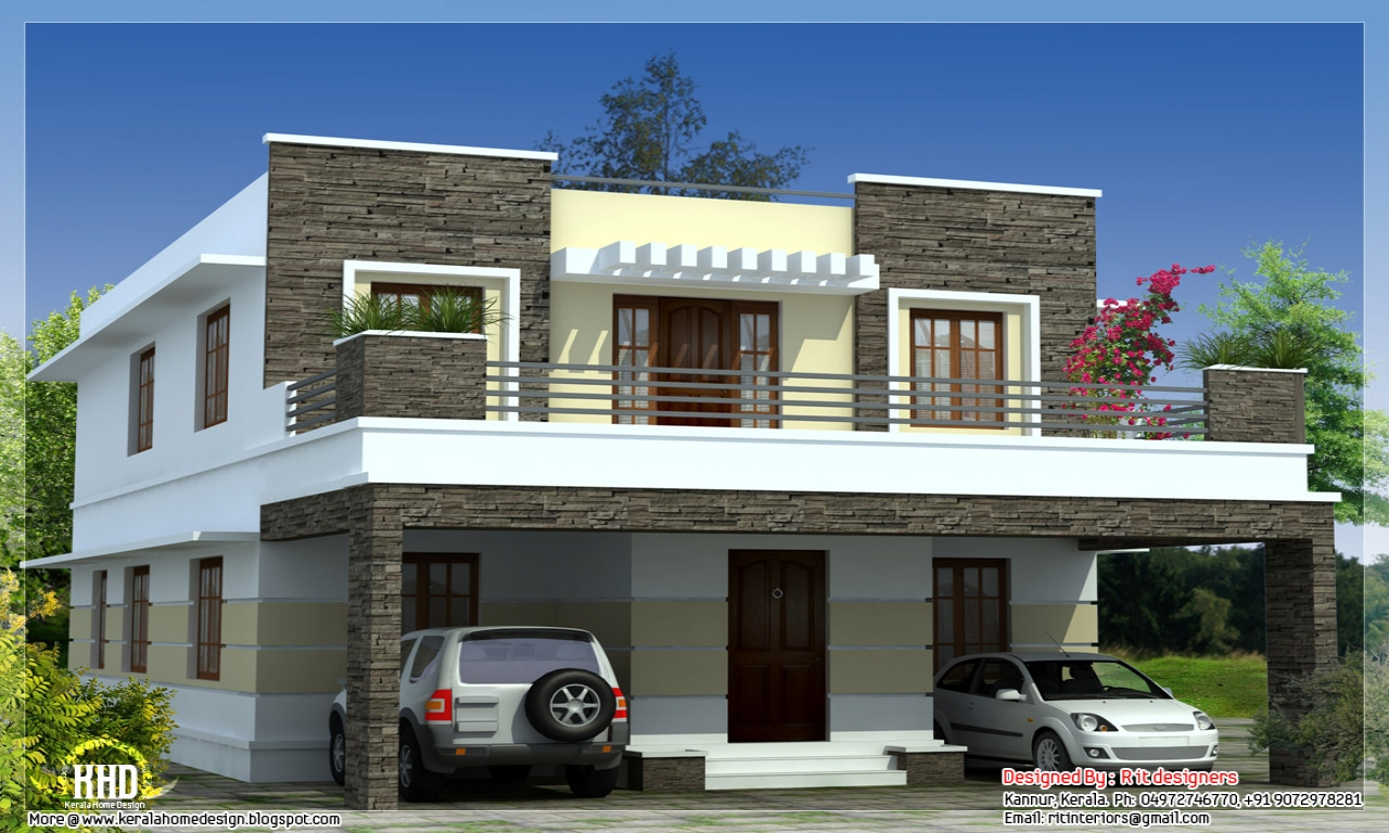 flat roof house plans designs small house plans flat roof lrg 606569bb54949037 - View Small Simple House Design With Rooftop Background