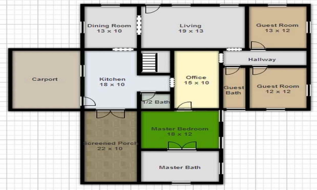 Free online house design floor plans home design software - Design a building online free ...