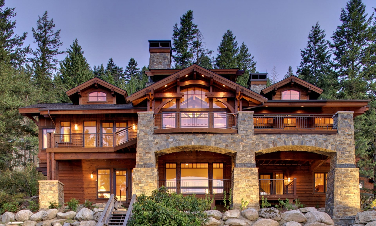 Lakefront Homes Mountain House Mountain Home Interiors