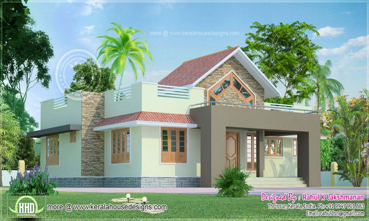 One floor house exterior design small suburban house 1 for One floor house photos
