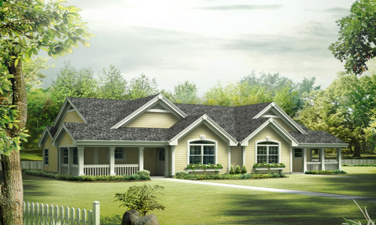 Ranch style house plans with wrap around porch floor plans ranch style house one level country - Farmhouse plans ...