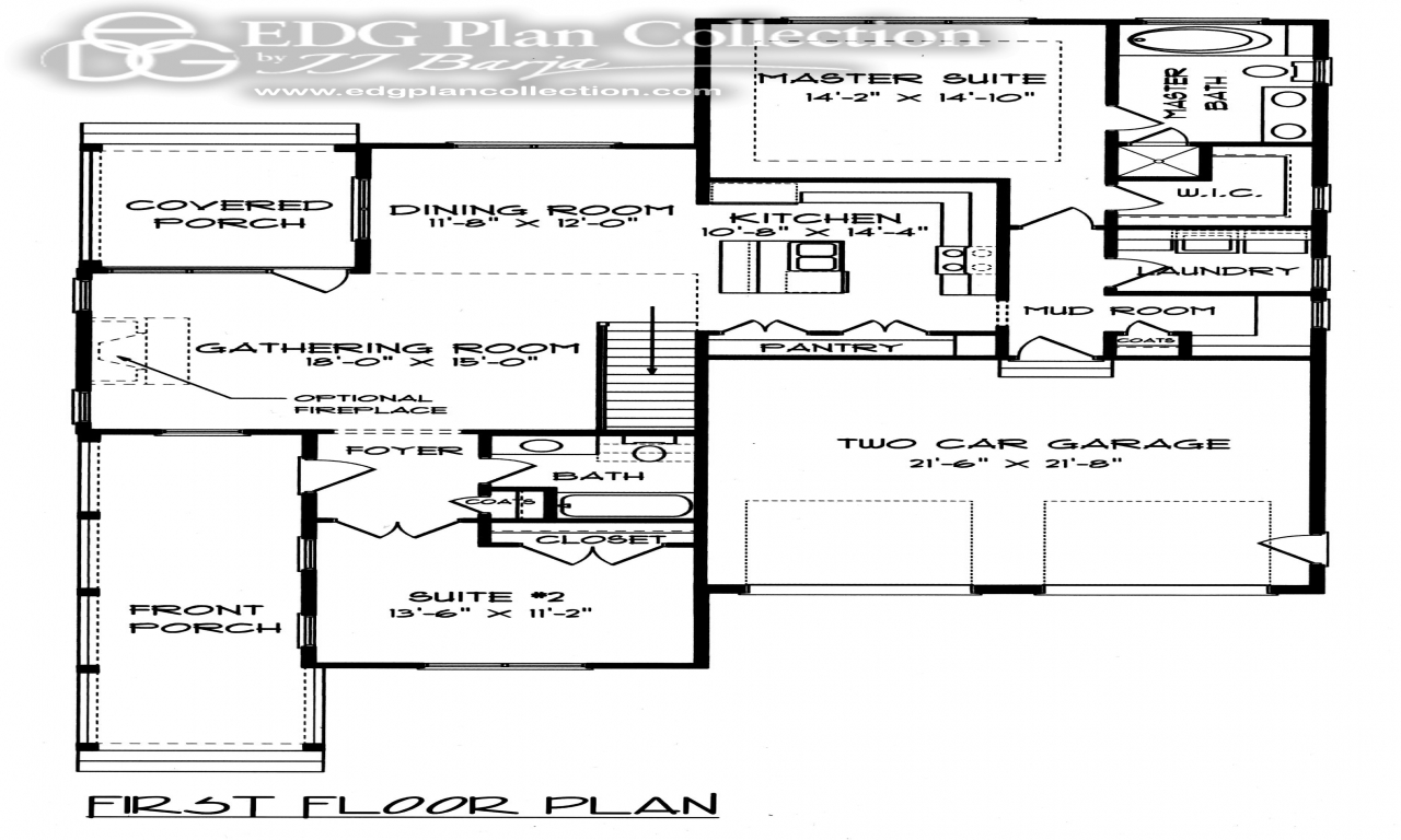 Simple floor plans open house farmhouse plans with open for Simple farmhouse floor plans