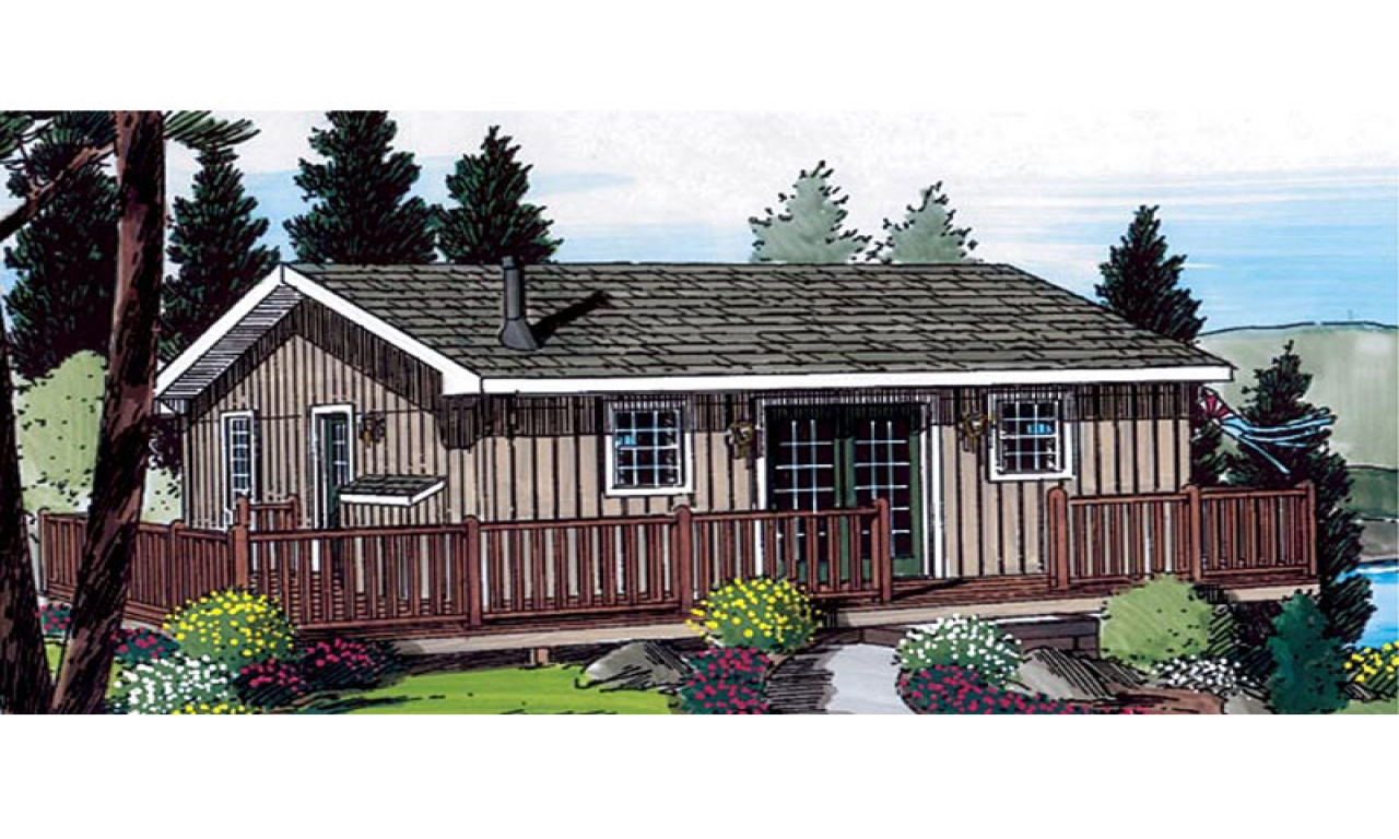 Small house plans storybook cottage small cottage house for Waterfront home designs