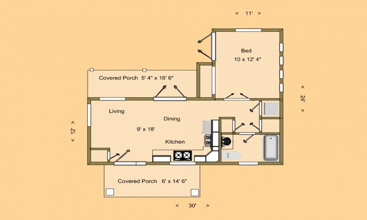 Tiny House Floor Plans Small Cabins Tiny Houses Small: Very Small House Plans Small House Floor Plans Under 500