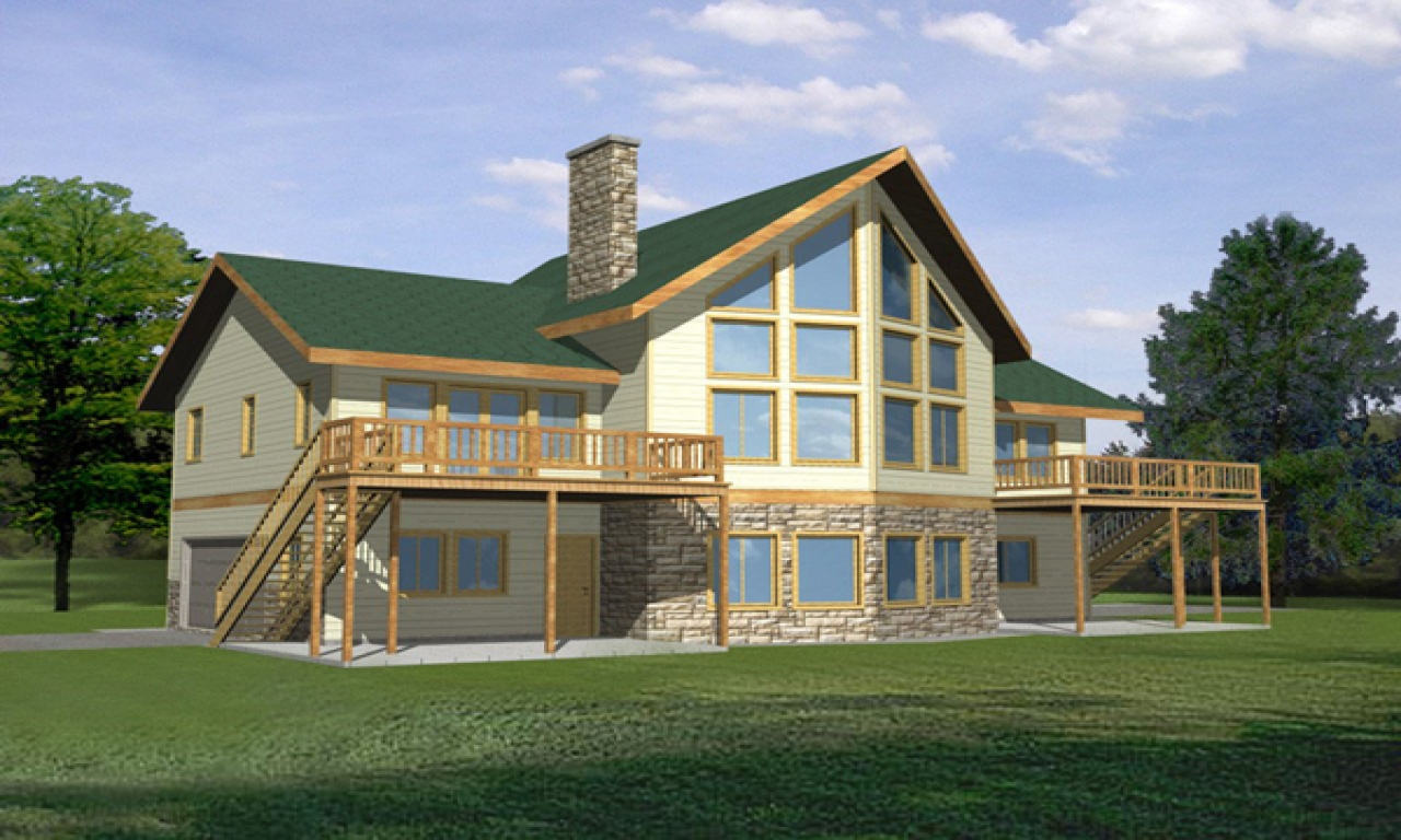 Waterfront House With Narrow Lot Floor Plan Waterfront Homes House Plans Waterfront House Plans