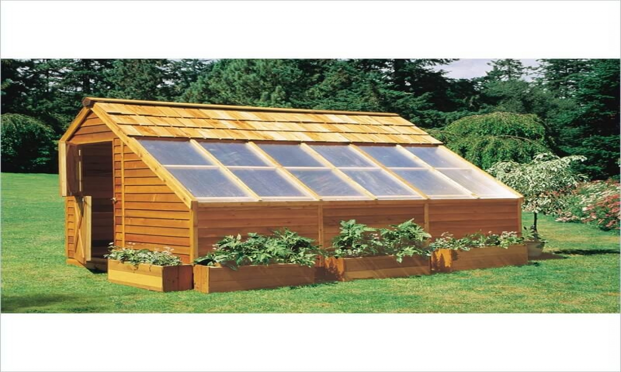Wood Greenhouse Plans Build Your Own Greenhouse Wooden