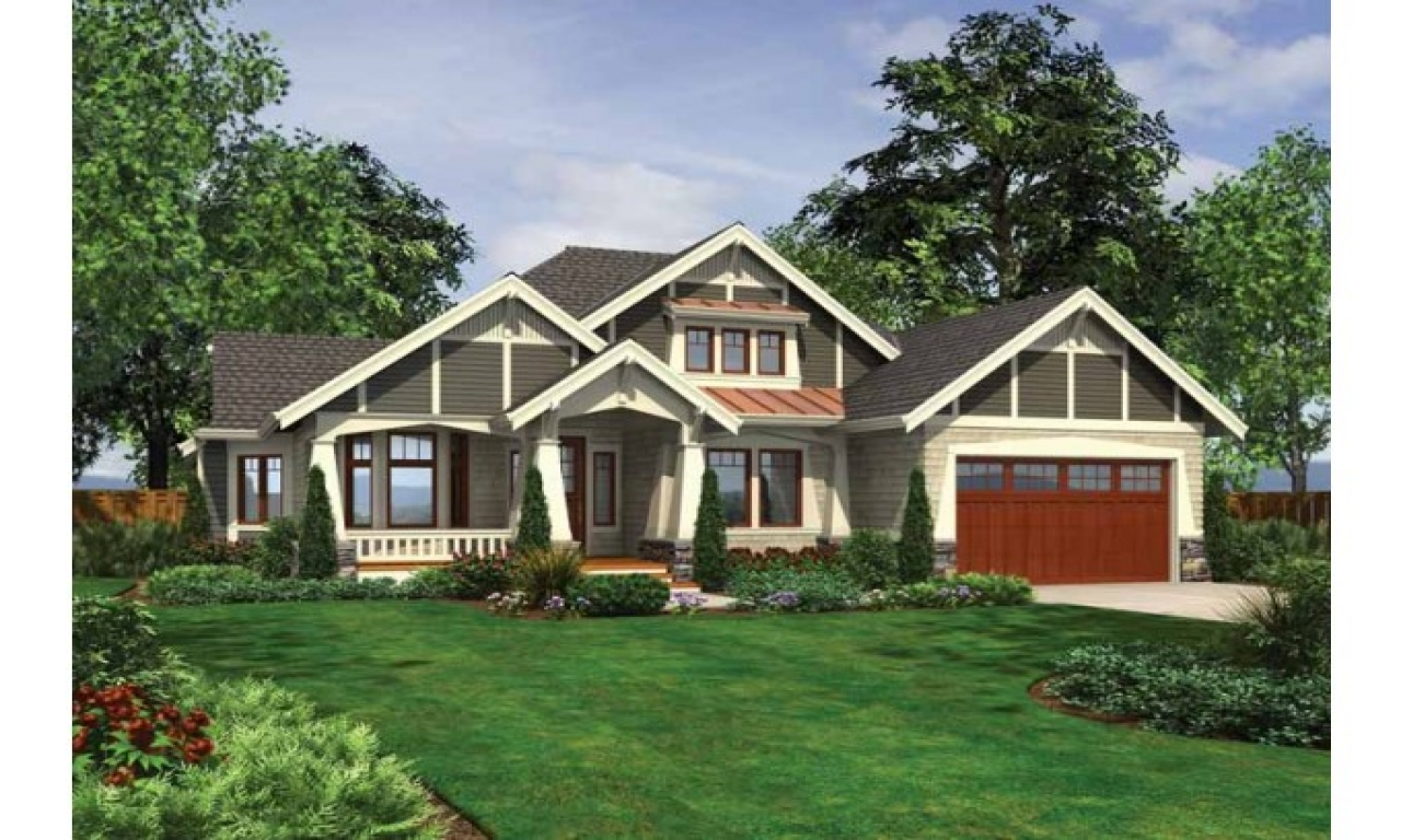 Exterior Ranch Craftsman Home Craftsman Style Ranch House