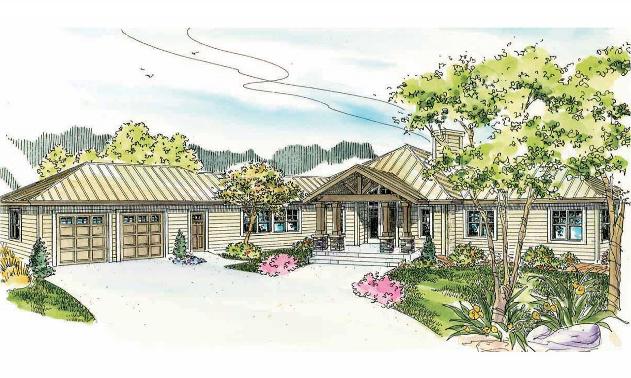 Lodge style house plans willow creek 10 542 associated for Lodge home designs