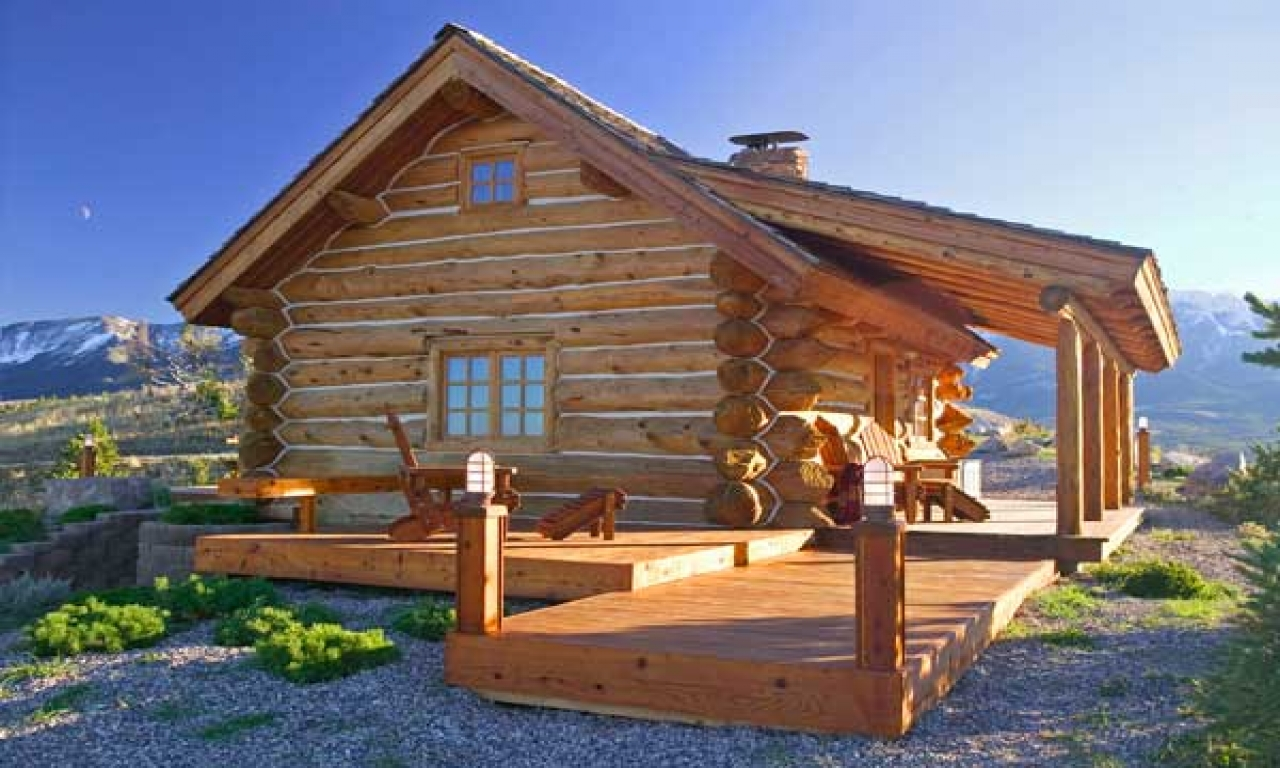 Small log cabin floor plans small log cabin homes plans for Small log cabin home plans