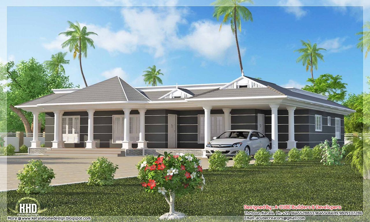 Contemporary house plans one floor houses house designs for One floor house images