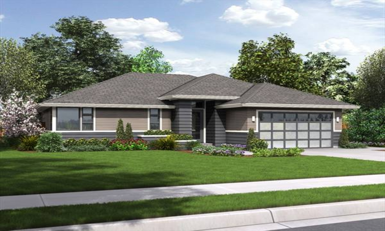 Modern ranch style home plans modern ranch style house for Contemporary ranch style home plans