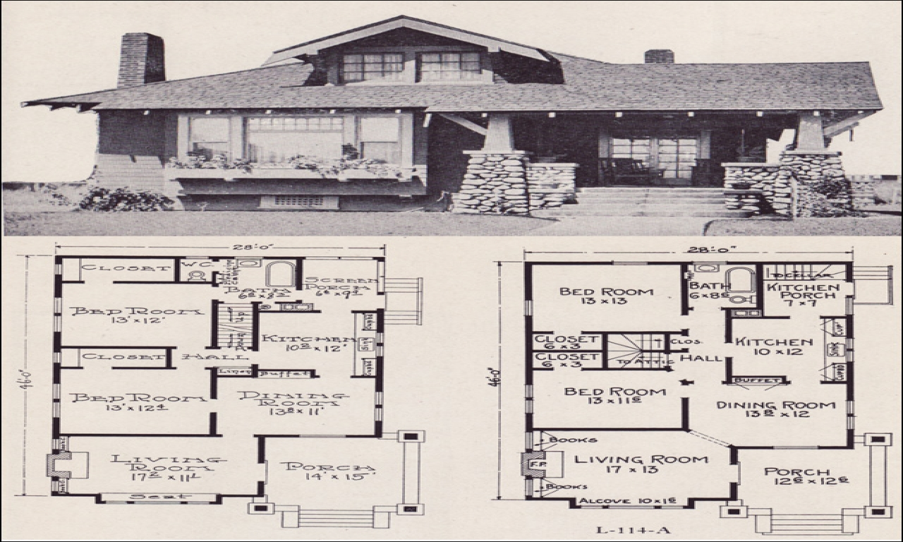 Small house plans craftsman bungalow craftsman style for Small craftsman bungalow plans
