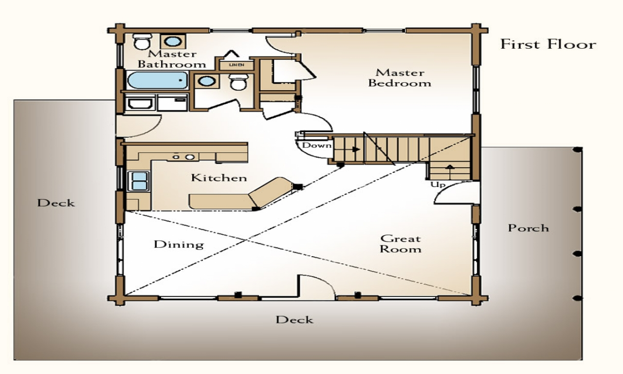 Small log cabin floor plans with loft rustic log cabin for Small rustic open floor plans with loft