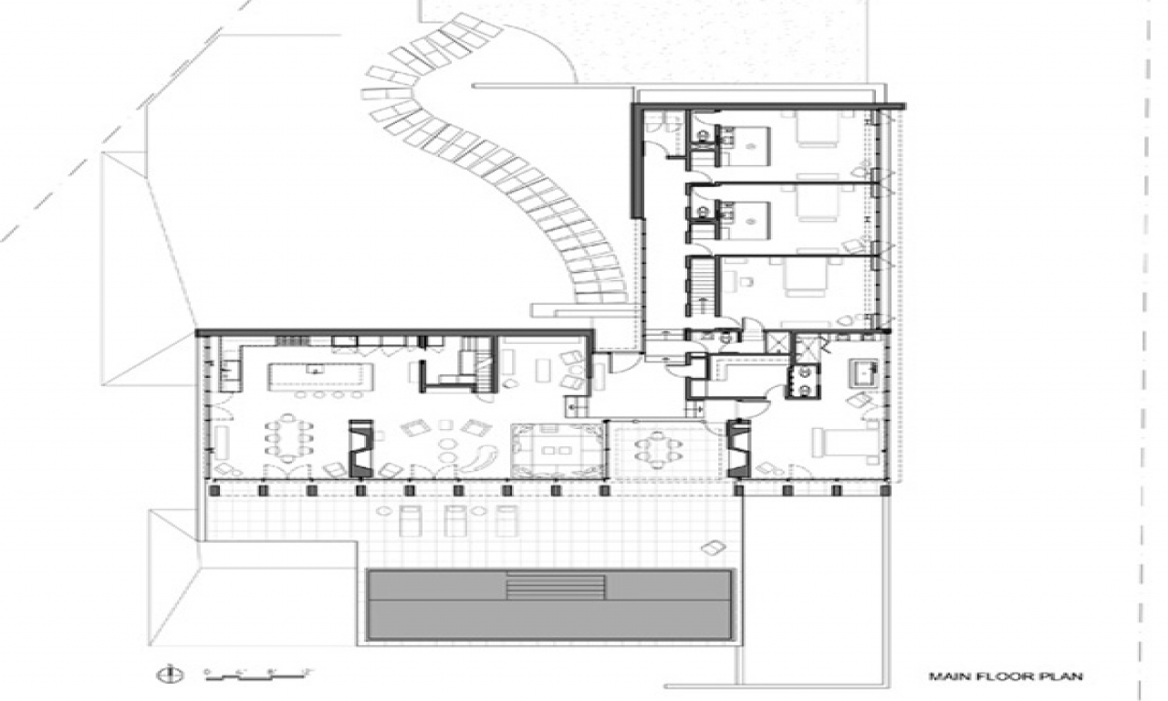 V shaped house plans waterfront waterfront house plan for Raised waterfront house plans