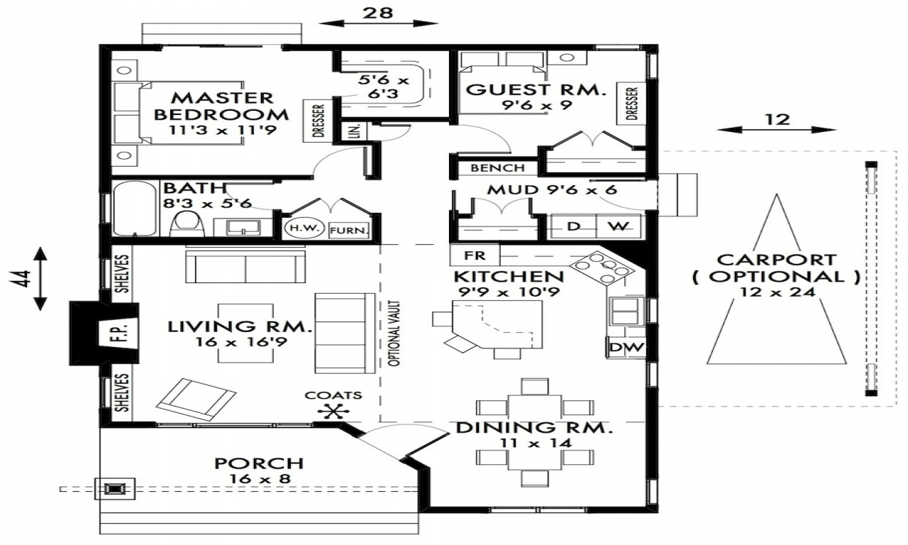 2 bedroom cottage house plans 2 bedroom cottage house for 2 bedroom cottage