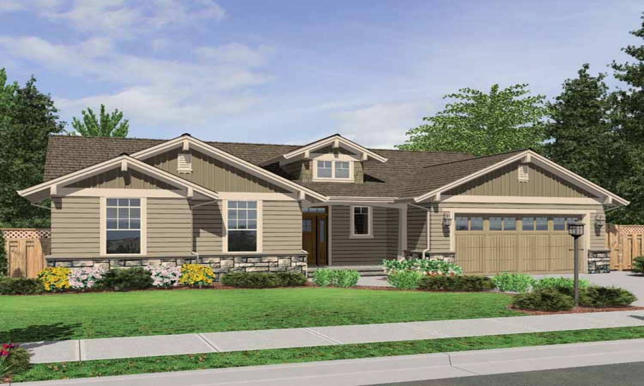 One story house plans craftsman style one story craftsman for Style at home canada