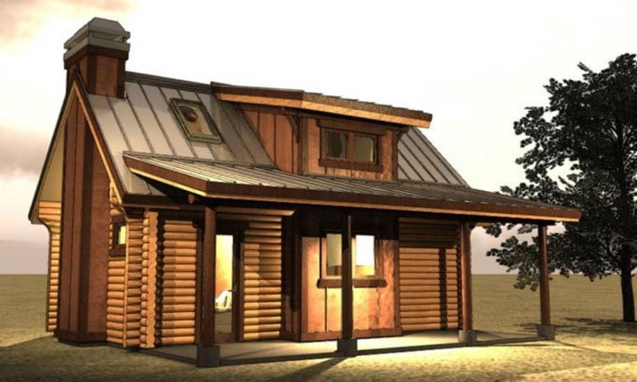 Small Log Cabin Kit Homes Small Log Cabin Floor Plans: Small Log Cabin With Loft Plans Small Log Cabin Floor