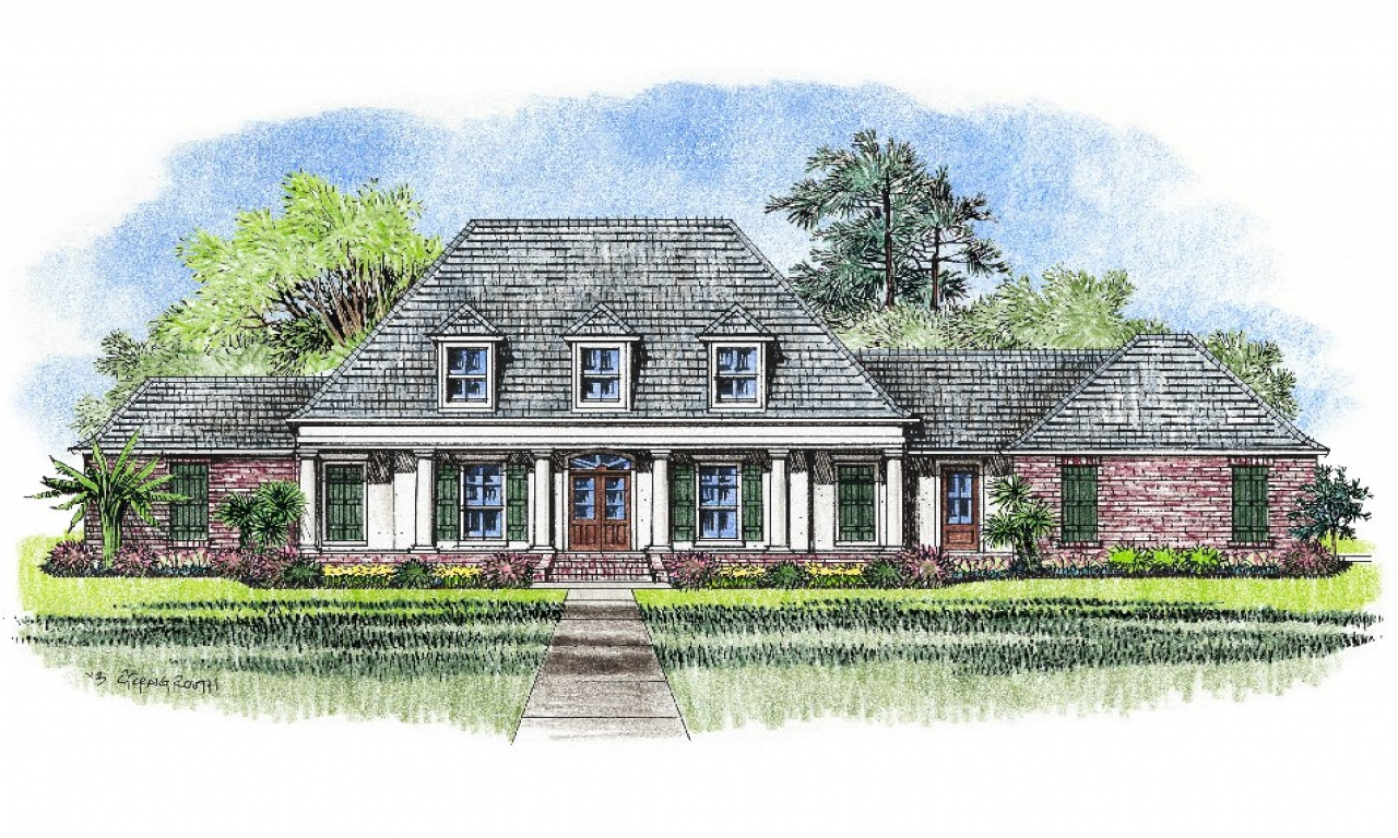 French acadian style house plans south louisiana acadian for Louisiana acadian house plans