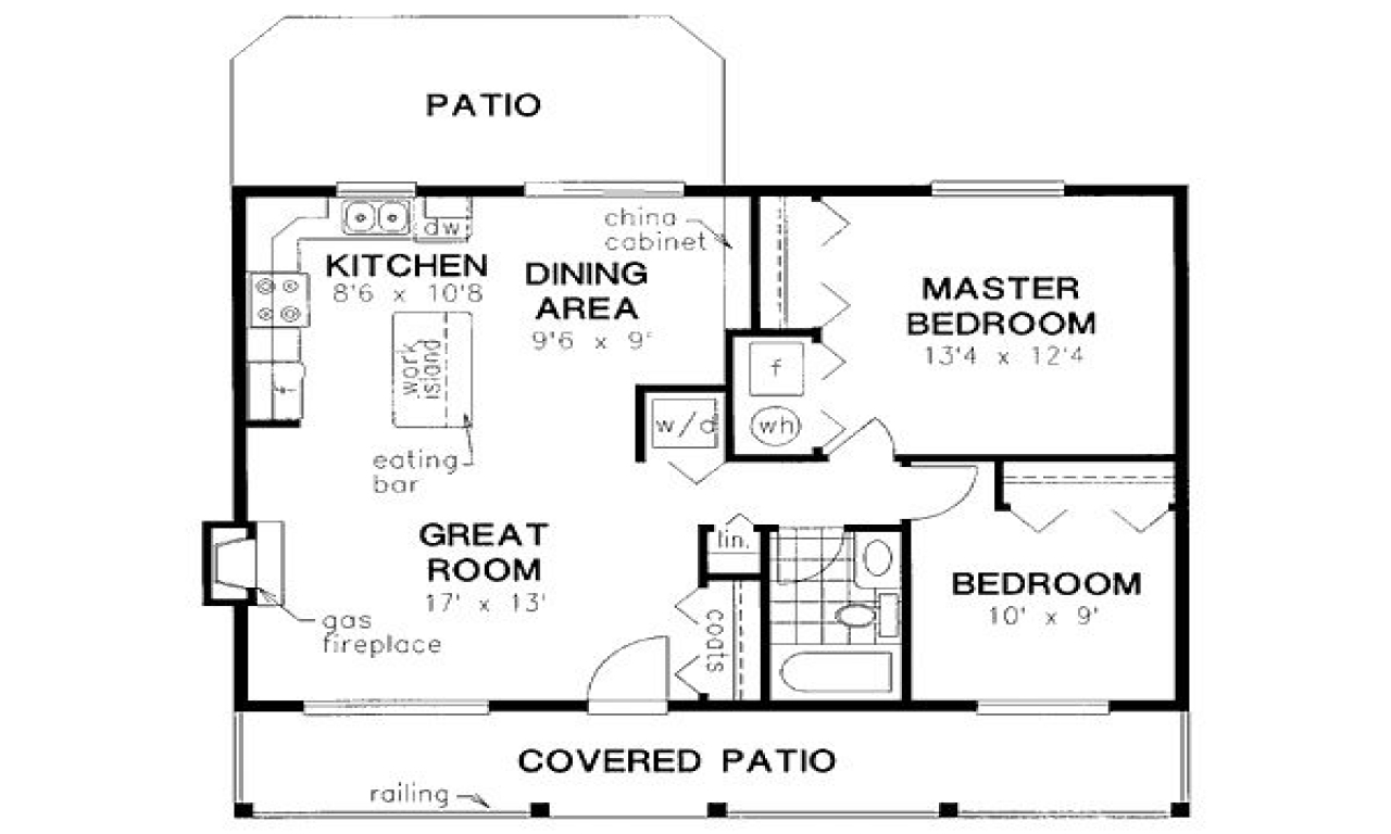 900 square feet house floor plans 900 square feet for Floor plans for 800 sq ft apartment