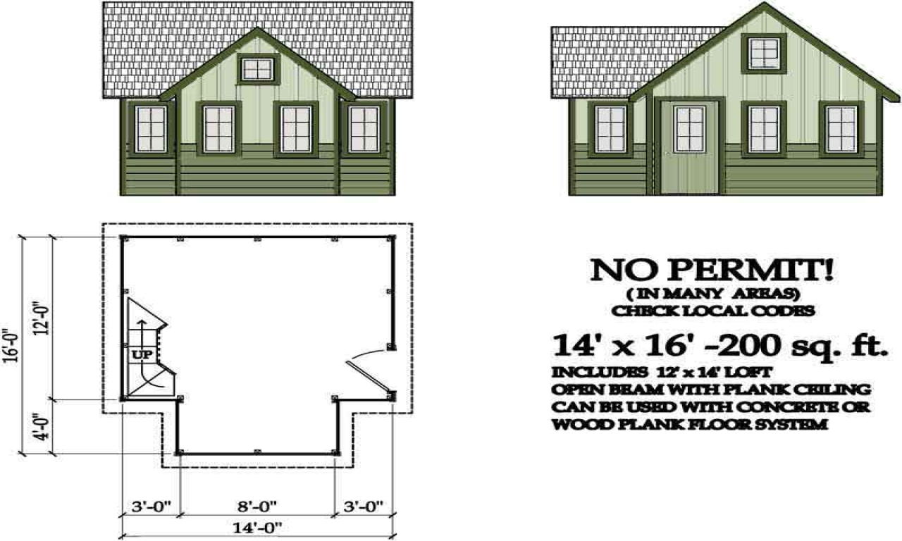 Homes Under 200 Square Feet 200 Square Foot Cabin Plans
