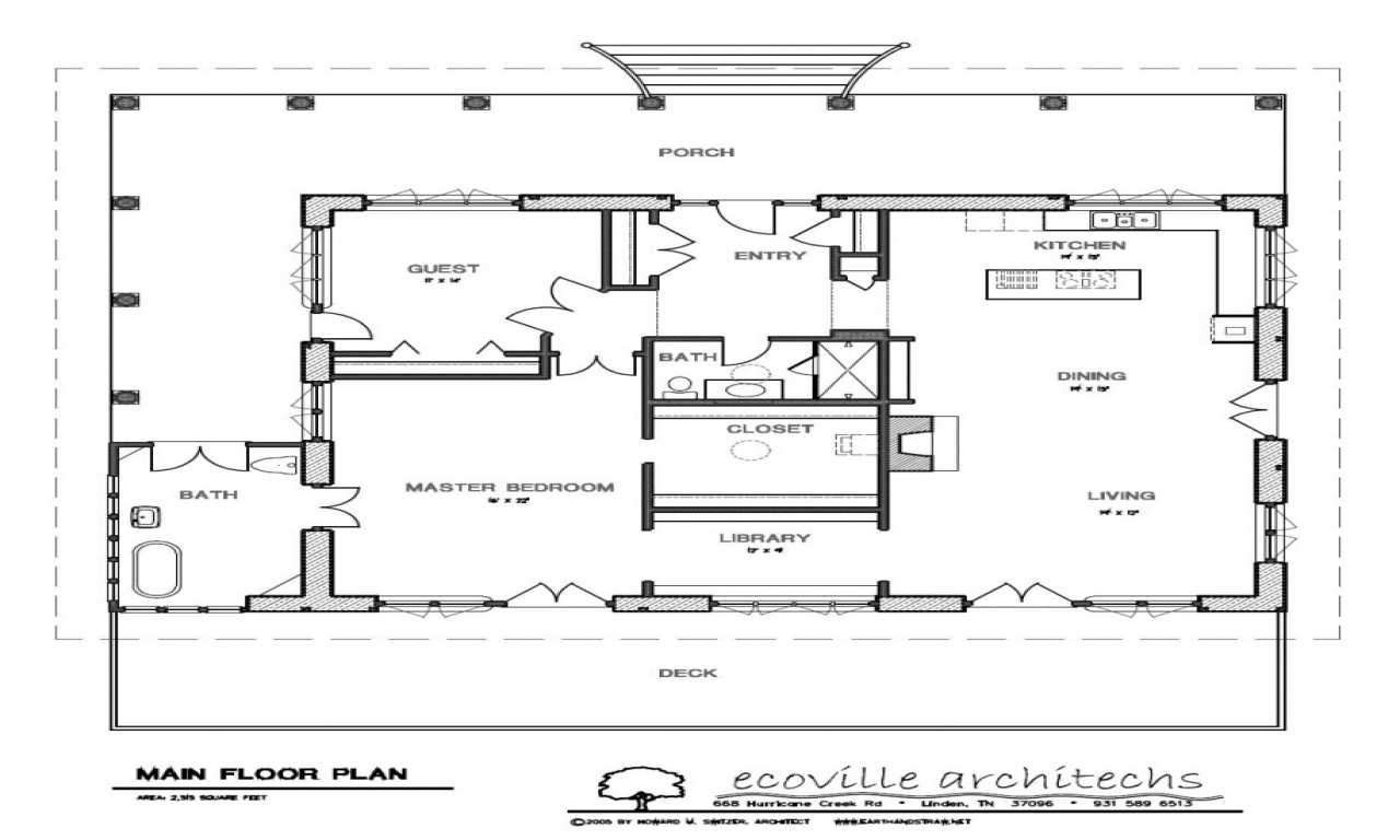 Small House With Porch Plan Small House With Covered Porch