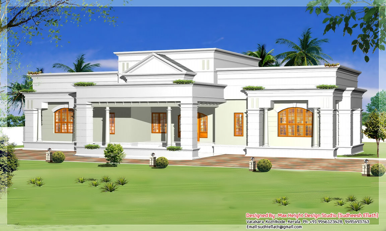 Best one story house plans single storey house design plan for Home design 99