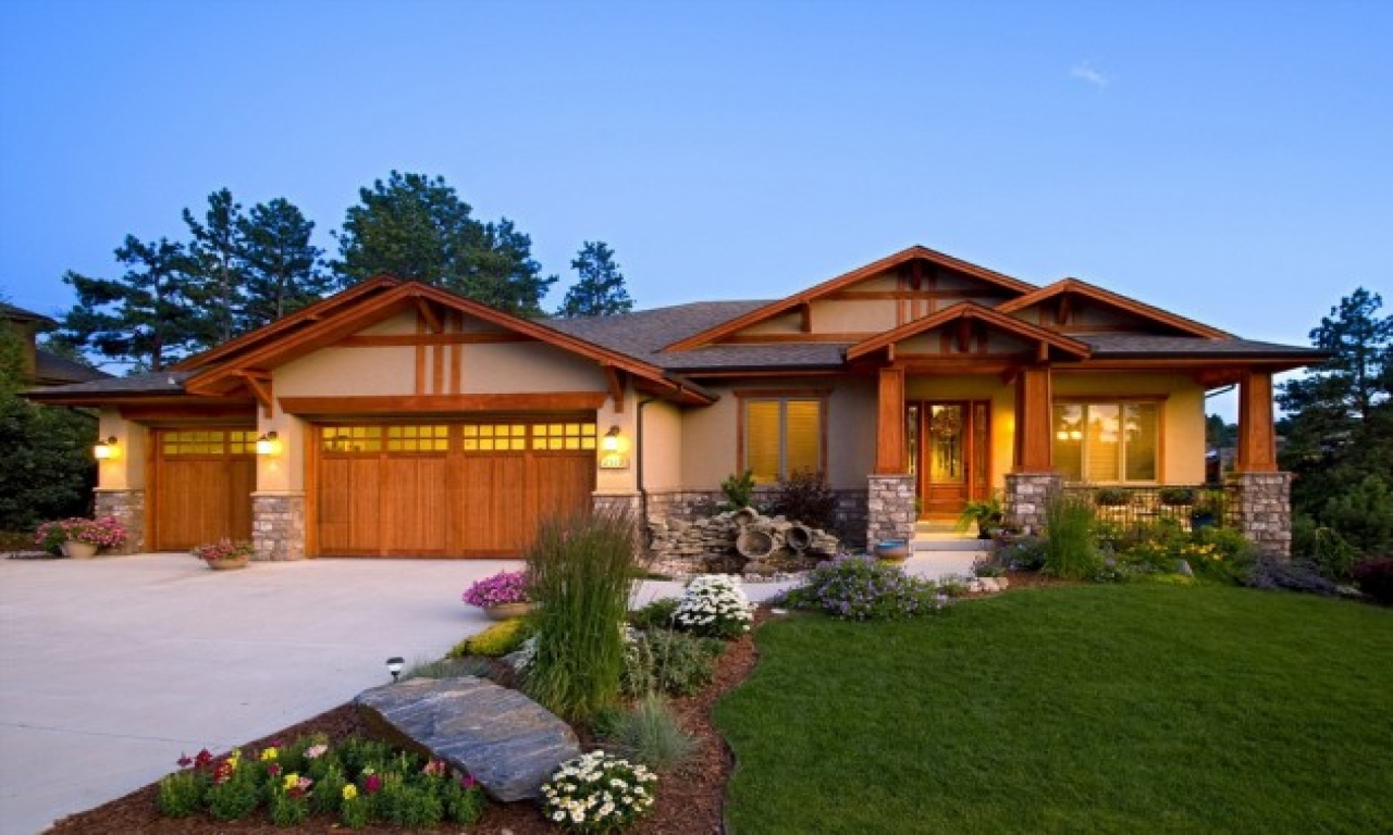 Ranch style home exteriors craftsman ranch home exterior - Arts and crafts home interior design ...