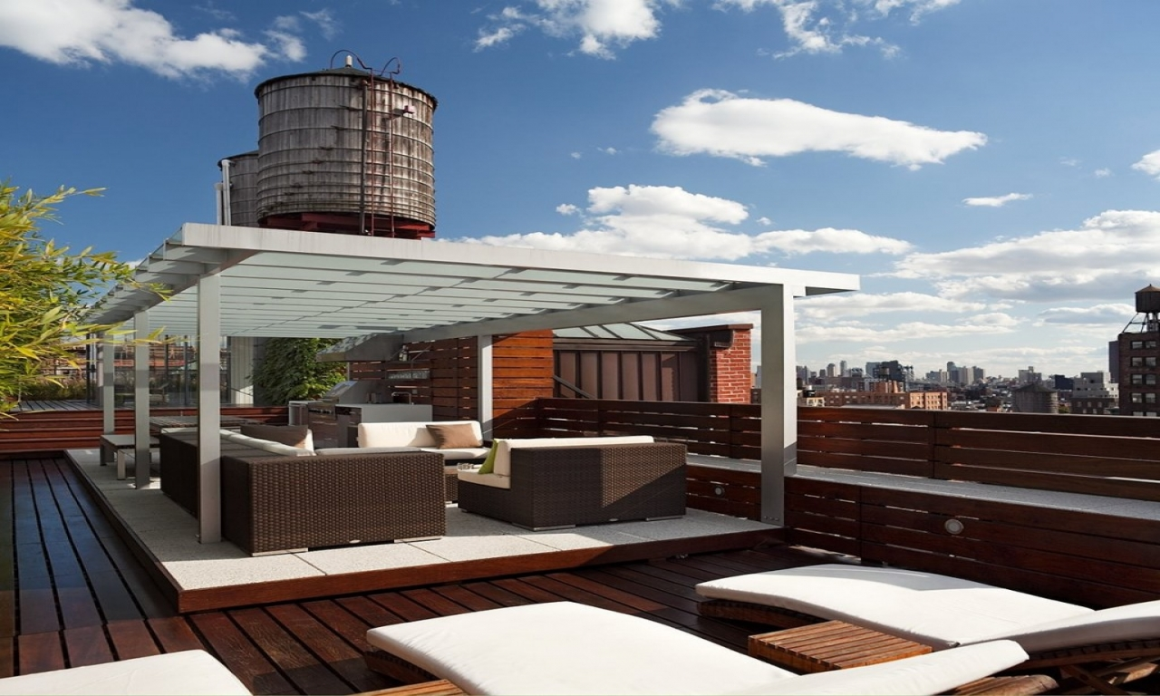 Rooftop Deck Design Garage With Rooftop Deck House Plans