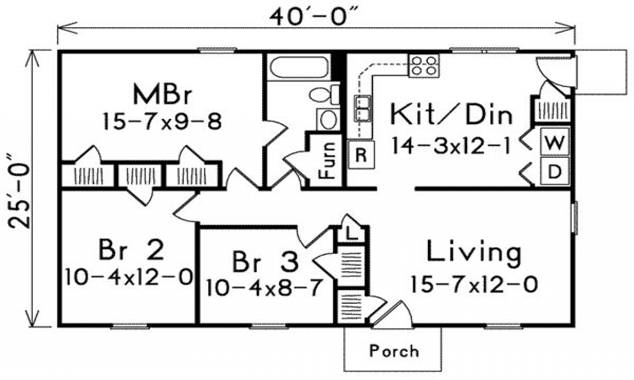 Small House Floor Plans Under 1000 Sq Ft: Small House Plans Under 1000 Sq FT 1000 Sq Foot House