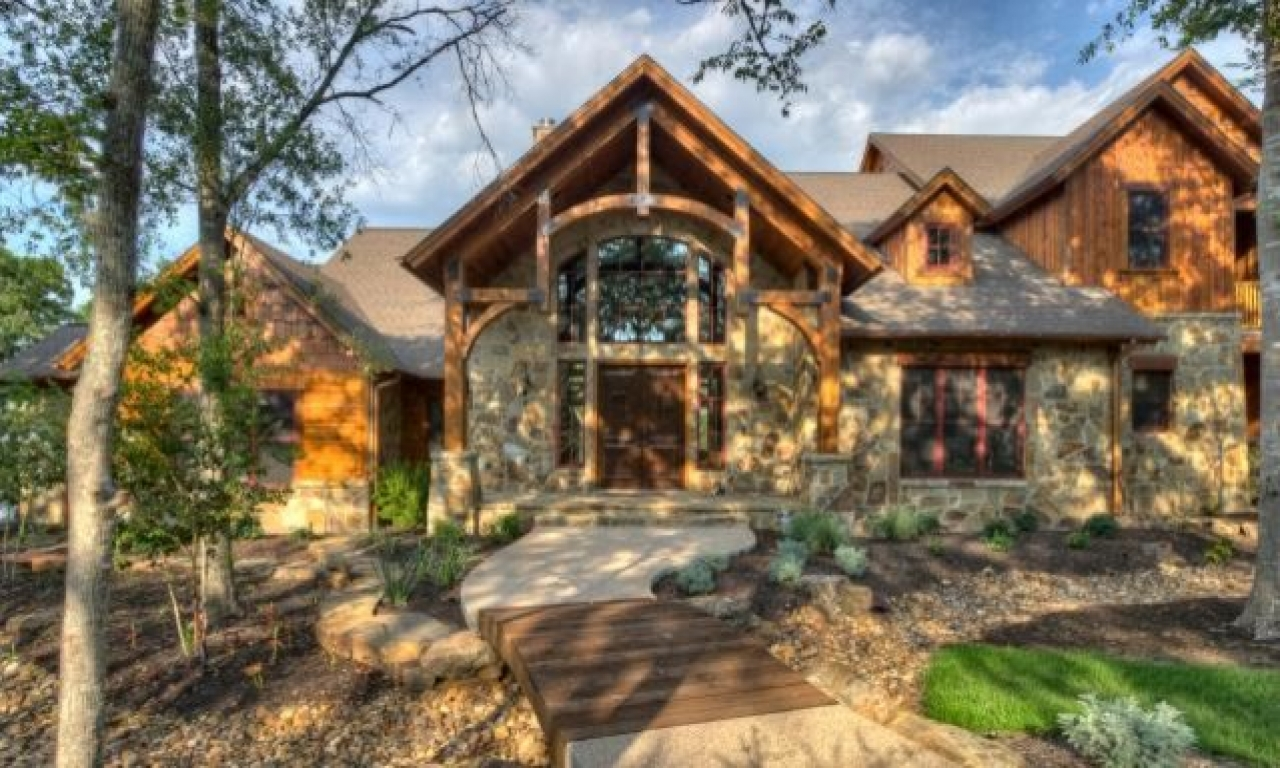 Mountain Lodge Style Home Exterior Log Cabin Style Modular ...