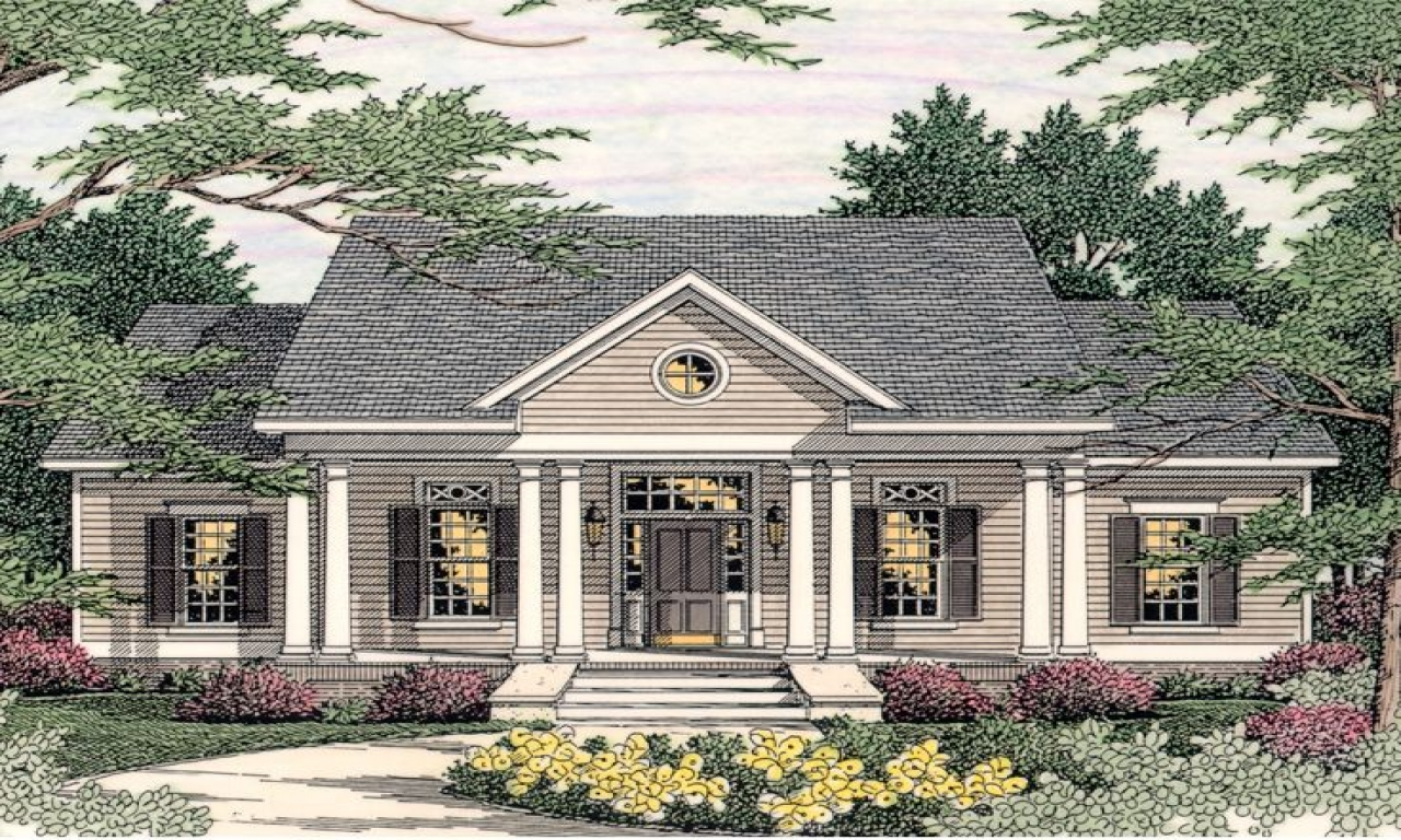 Small southern colonial house plans georgian style house for Small historic house plans