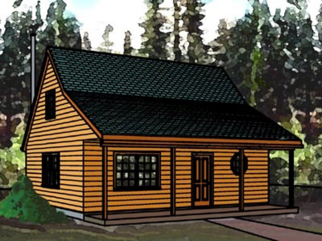 Inexpensive small cabin plans cabin plans with loft for Cabin plans 123