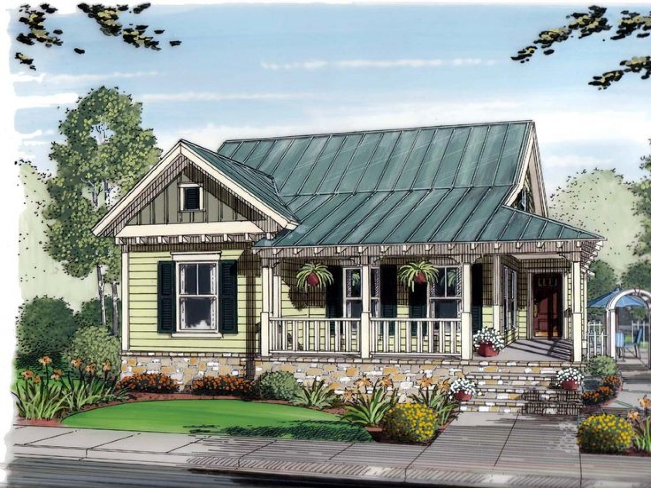 Bungalow Cottage Home Plans Country House Plans Small ...